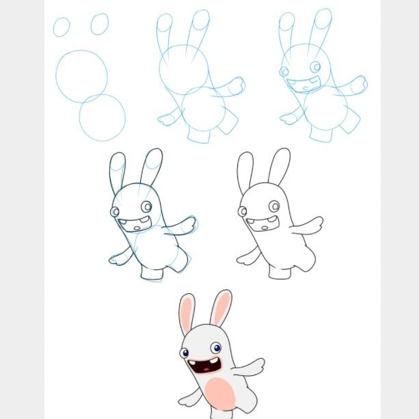 Drawn rabbid hand drawn 126 Pinterest Rabbids to images