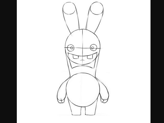 Drawn rabbid hand drawn On a draw RABBID World