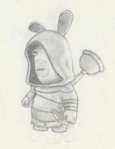 Drawn rabbid hand drawn 21 Art! best Pinterest rabbids