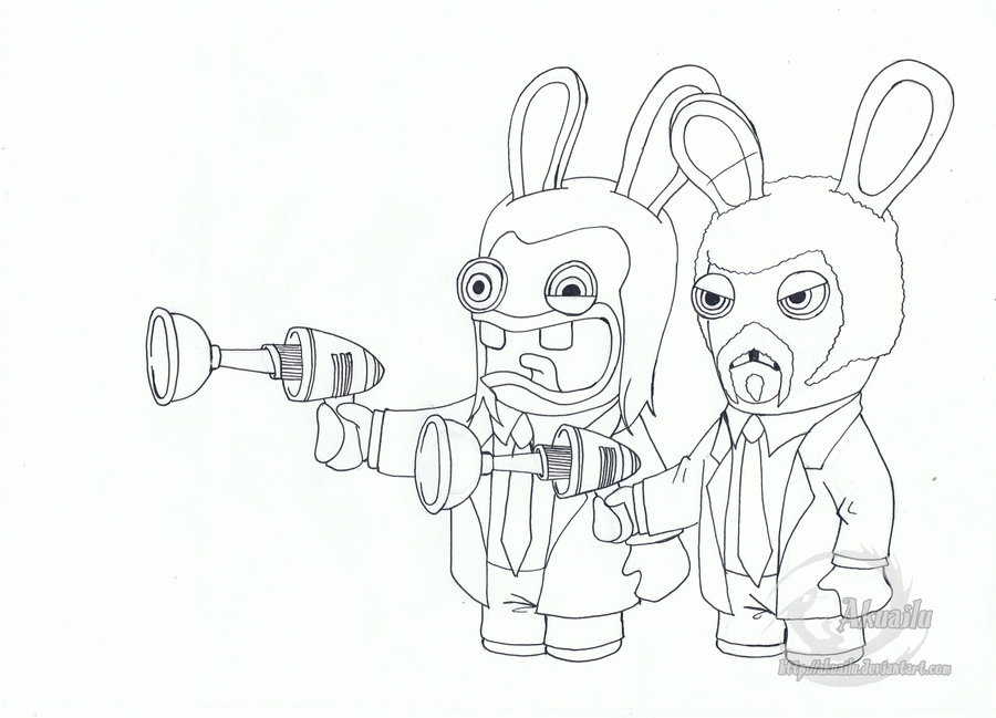 Drawn rabbid hand drawn Pulp Rabbids Fiction on by