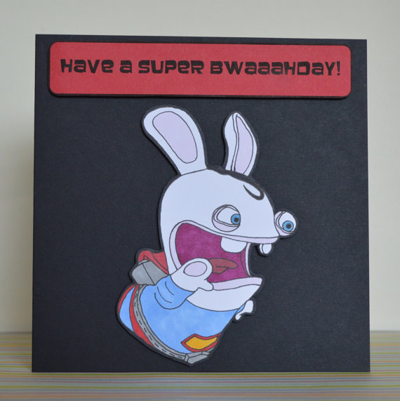Drawn rabbid hand drawn Card Raving Rayman #Rabbid Rabbids
