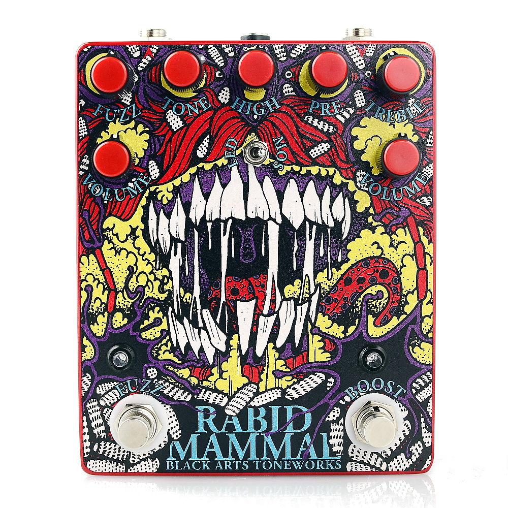 Drawn rabbid mammal  Fuzz Rabid Reverb Black