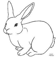 Drawn rabbid rabbit hopping Outline Rabbit free Rabbit Rabbit