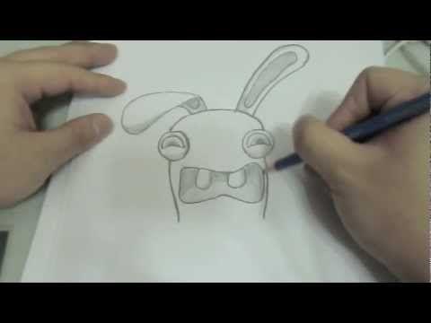 Drawn rabbid rabbit hopping Raving best how (rayman draw