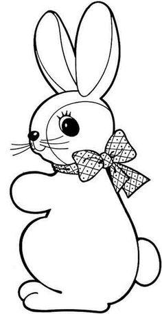 Drawn rabbid rabbit hopping And cute Easter contestant hopping