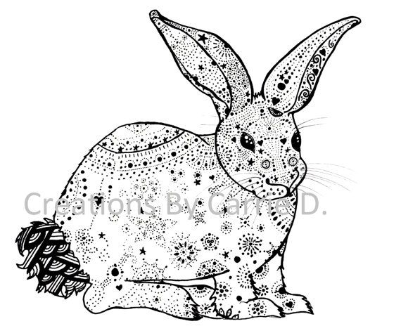 Drawn rabbit abstract By Rabbit Black Drawing and