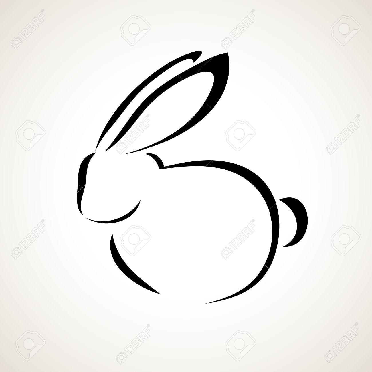 Drawn rabbid abstract Google Bunnies rabbit Search drawing