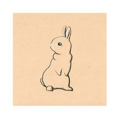 Drawn rabbit adorable bunny Room childrens Original Bunny LARGE