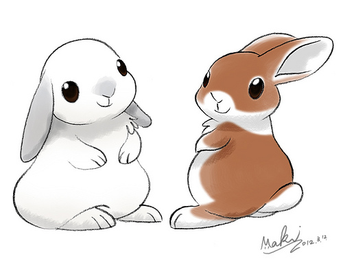 Drawn rabbit adorable bunny Cute · Rabbit rabbit Pets