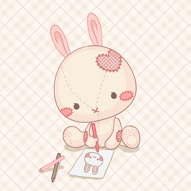 Drawn rabbit adorable bunny Cute bunny cute bunny bunny