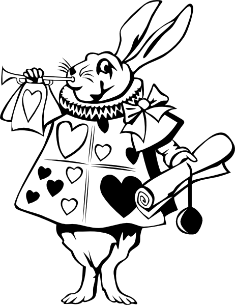 Drawn rabbid alice in wonderland Alice this at Wonderland From