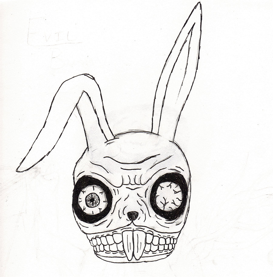 Drawn rabbit angry For Images Images Pinterest