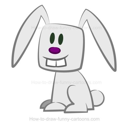 Drawn rabbit animation  rabbit Drawing a