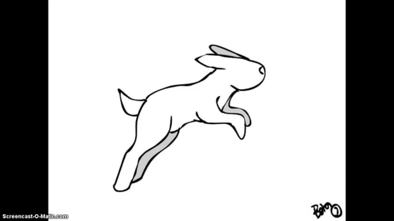 Drawn rabbit animation Rabbit YouTube Rabbit Animation Run