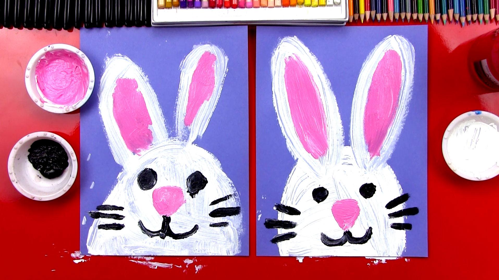 Drawn rabbit art for kid hub An Easter Hub Art Kids