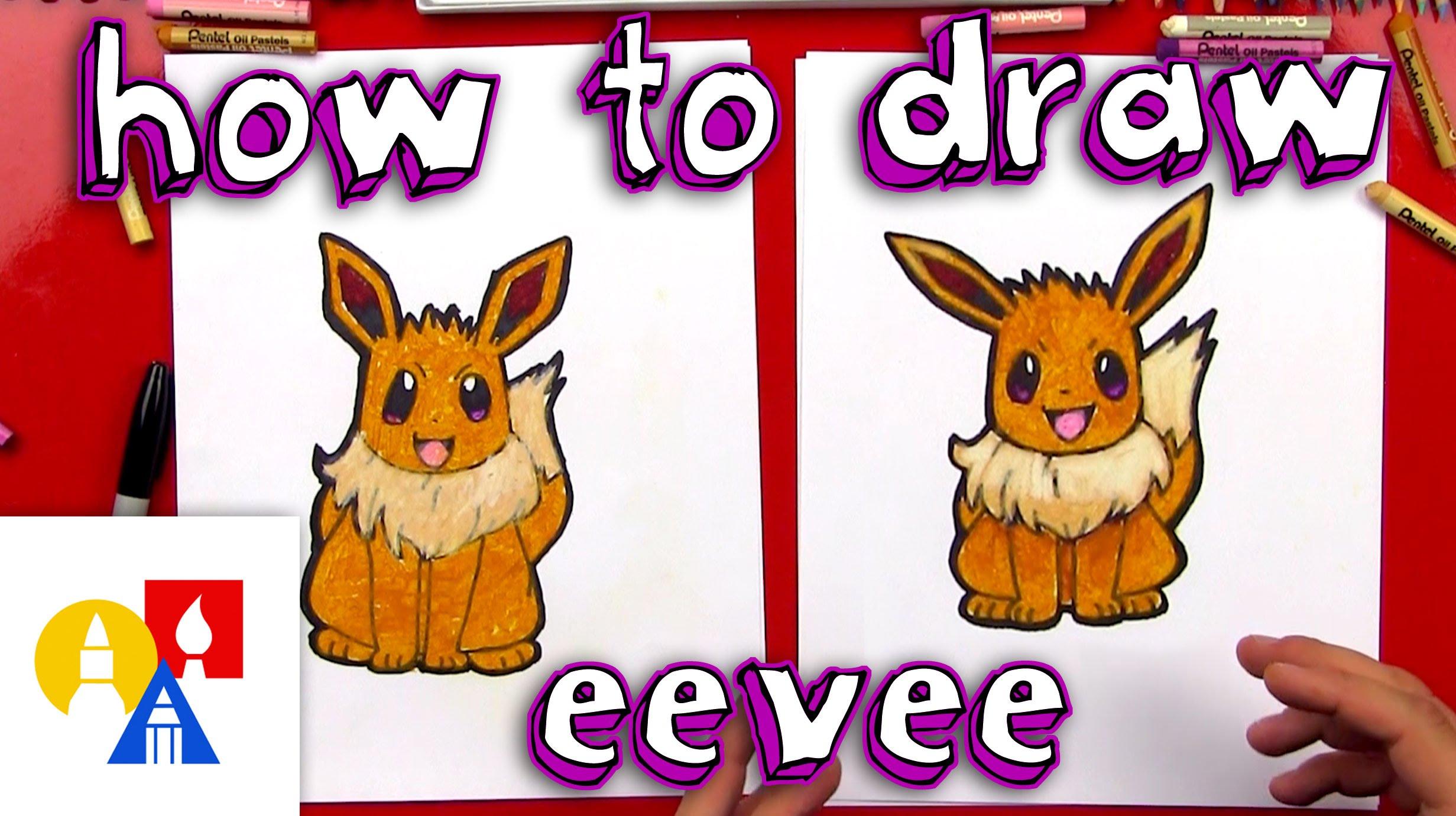 Drawn rabbit art for kid hub Draw Eevee Kids  Art