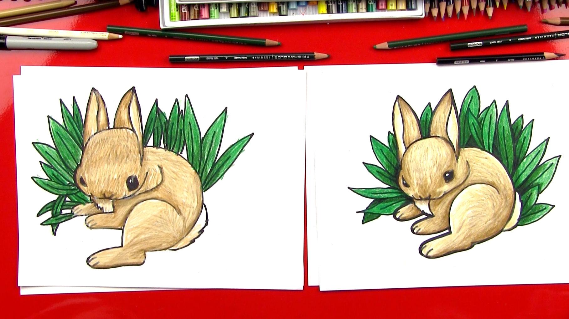 Drawn rabbit art for kid hub Draw A  For Hub