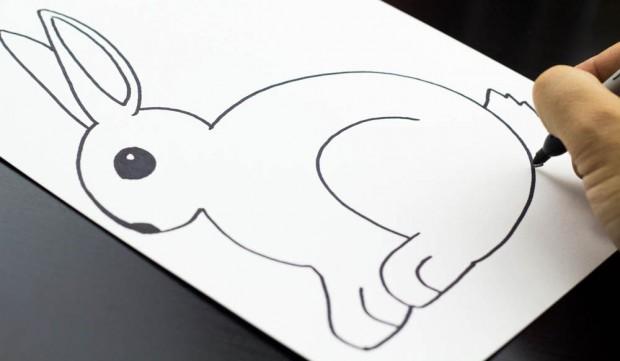Drawn rabbit art for kid hub A Rabbit Draw Draw A