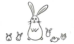 Drawn bunny baby bunny Rabbits to Drawing and to