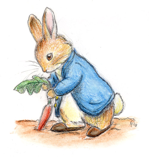 Drawn rabbit baby peter Rabbit Peter Rabbit and Beatrix