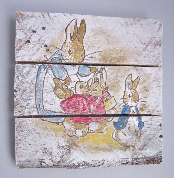 Drawn rabbit baby peter Ideas by Best SarahAnnByler Handpainted