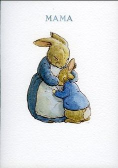 Drawn rabbit baby peter Party · Potter Baby Carte