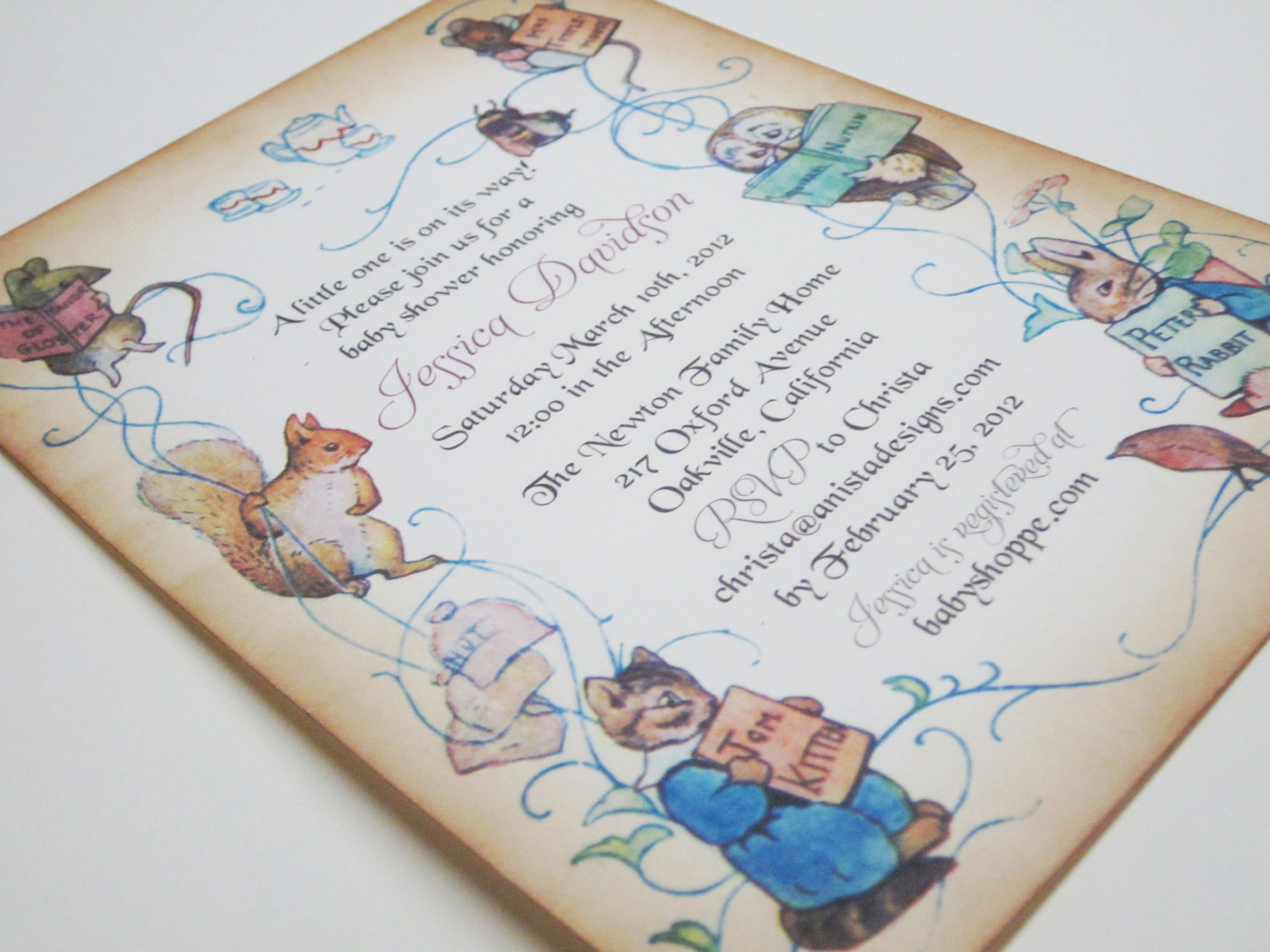 Drawn rabbit baby peter THERUNTIME Your Design Invitation Adorable