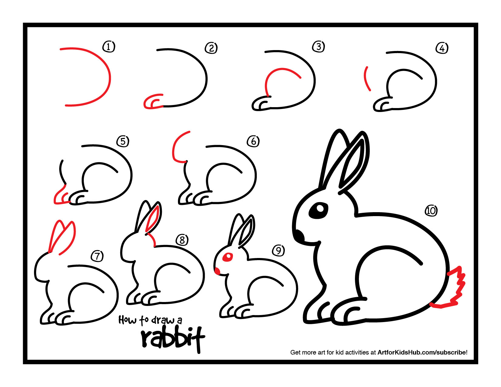 Drawn bunny step by step Art How All For How