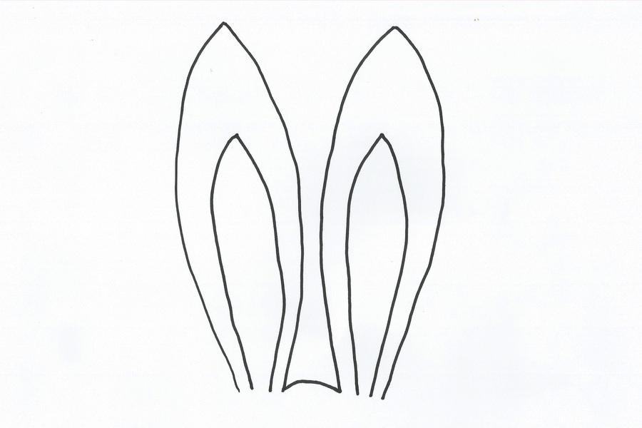 Drawn rabbit bunny ear To Plate Ears 1 Fun