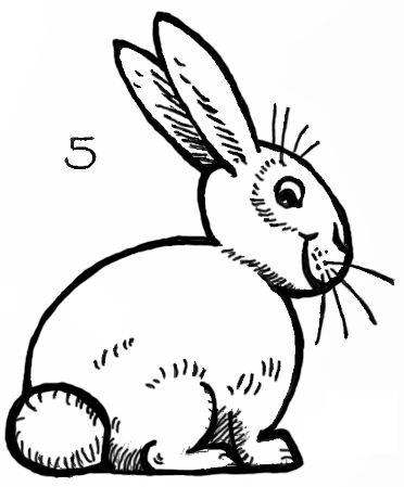 Drawn rabbit bunny line To How lines How Easy