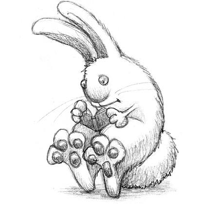 Drawn rabbit bunny tail Out jpg rabbit well bunny