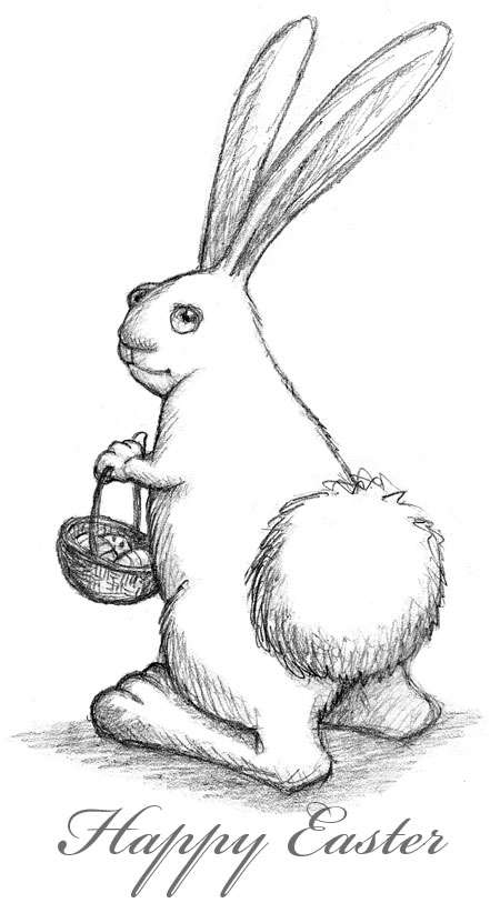 Drawn rabbit bunny tail Bunny sketched easterbunny easter jpg
