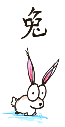 Drawn rabbit chinese rabbit Rabbit a of of fourth