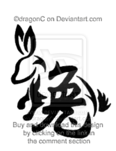 Drawn rabbit chinese rabbit On by Rabbit Tattoo Chinese