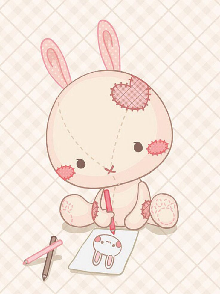 Drawn rabbit cute bunny More about images Rabbits on