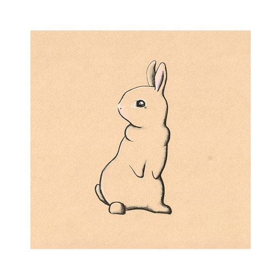Drawn rabbid cute bunny Cute Bunny childrens art drawing
