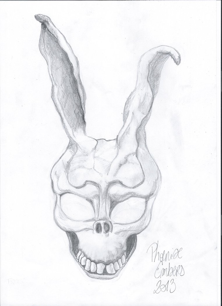 Drawn rabbid donnie darko frank Drawing) by Frank Darko the