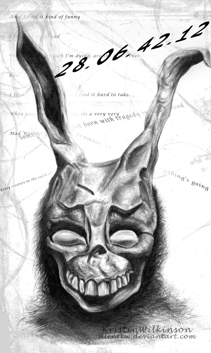 Drawn rabbid donnie darko frank Donnie  Sketch Donnie Darko