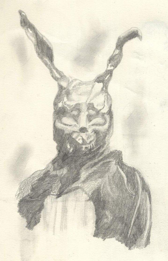 Drawn rabbit donnie darko frank Darko Sketch Donnie Sketch Darko