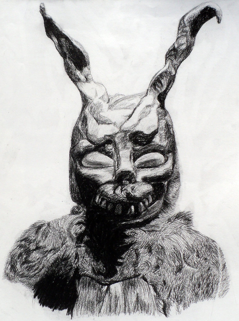 Drawn rabbid donnie darko frank  me Donnie Donnie know