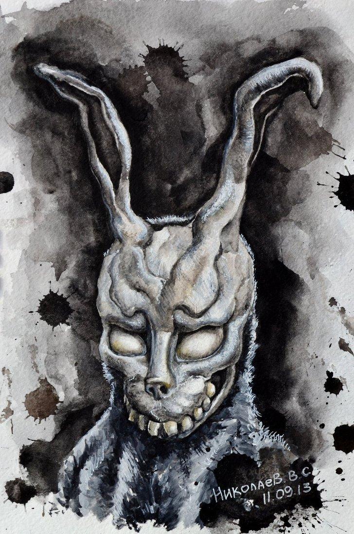 Drawn rabbit donnie darko frank Darko Frank Darko darko Pinterest
