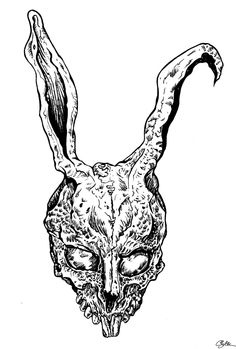 Drawn rabbit donny By DONNIE CAME DARK THE