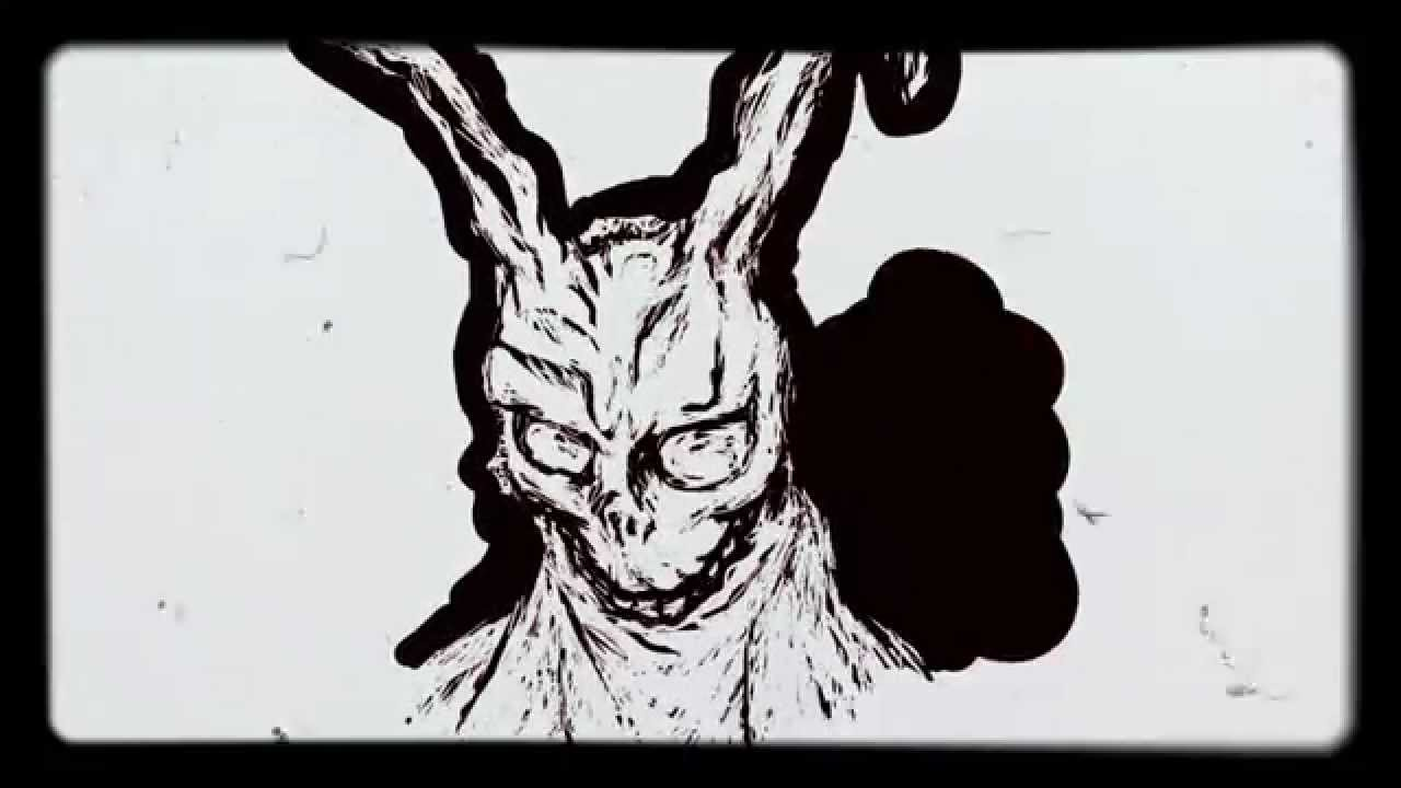 Drawn rabbit donny Darko the Darko Rabbit timelapse: