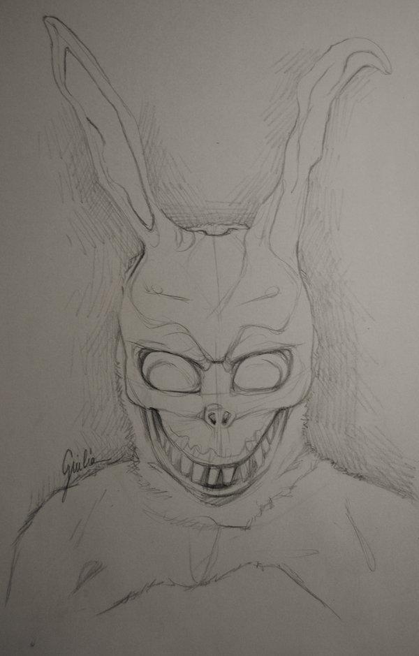Drawn rabbit donny On work  Frank progress