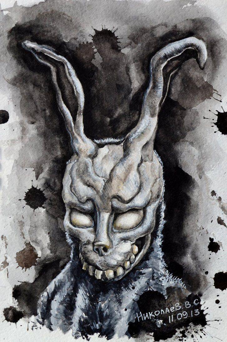 Drawn rabbid donnie darko frank Donnie Pinterest Donnie Darko Darko
