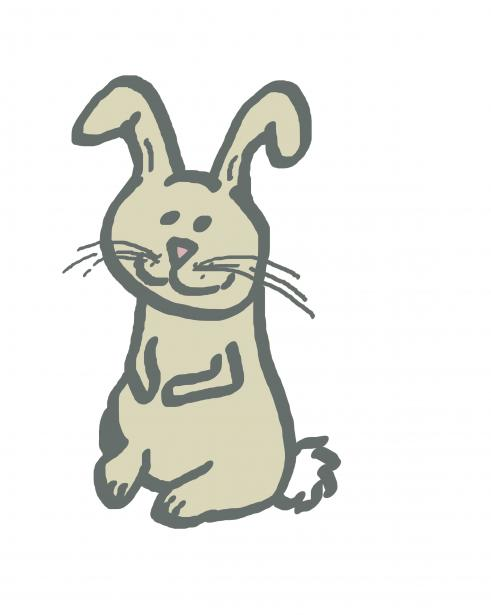 Drawn bunny doodle Stock  Rabbit Simple Photo