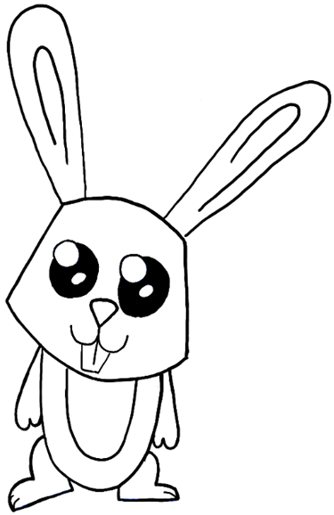 Drawn rabbit easy Png Coloring png Pages Drawing