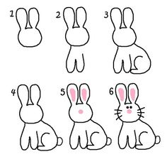 Drawn bunny step by step Step Search by  by