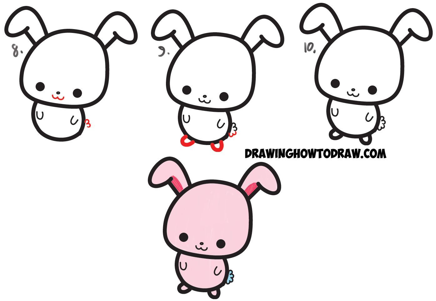 Drawn bunny step by step Easy a Draw Step Cartoon