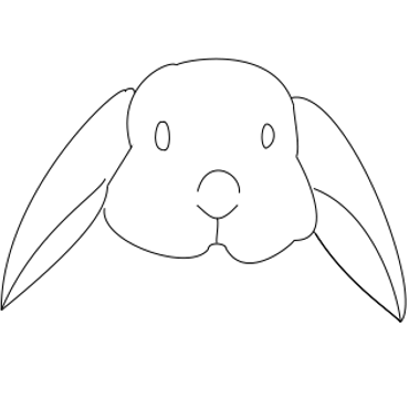 Drawn rabbid face To with Rabbit Hop Steps